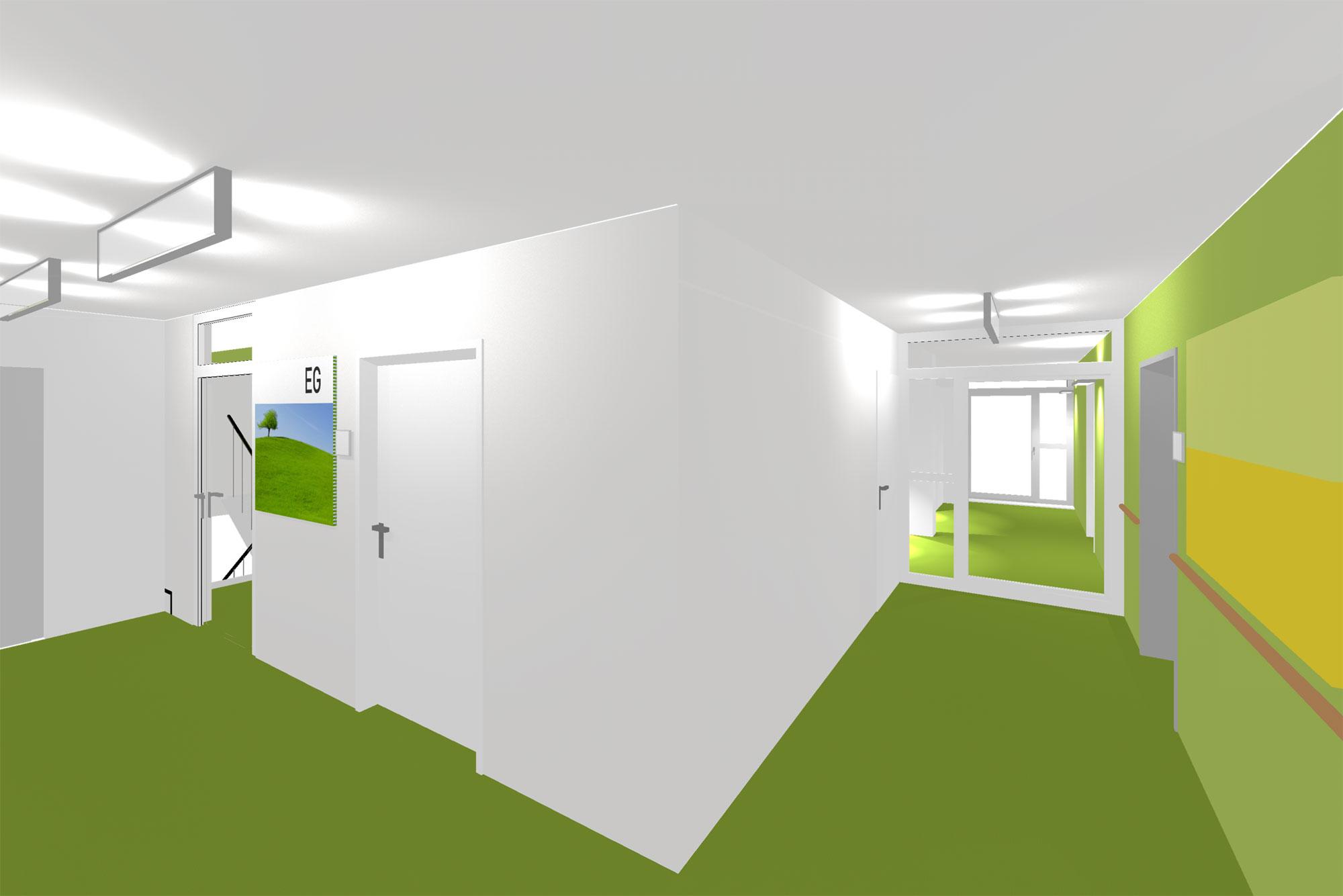 Neugestaltung eines seniorenheims gross innenarchitektur - Innenarchitektur flur ...
